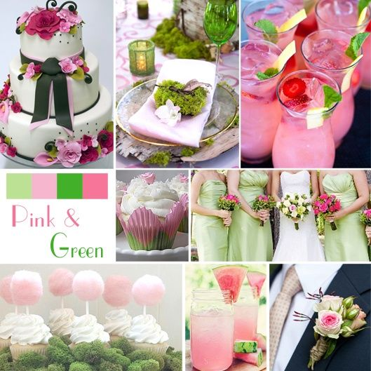 Pastel Pink & Green Wedding Color Ideas Pictures, Photos