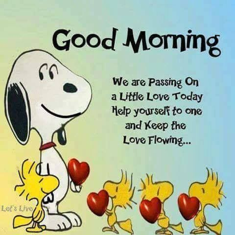 Good Morning Passing Love Snoopy Quote Pictures, Photos, and ...