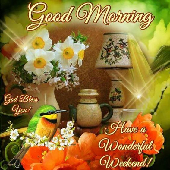 good morning have a wonderful weekend pictures photos
