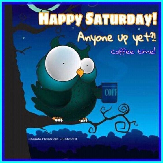 Funny Happy Saturday Quotes: Happy Saturday! Anyone Up Yet?! Coffee Time! Pictures