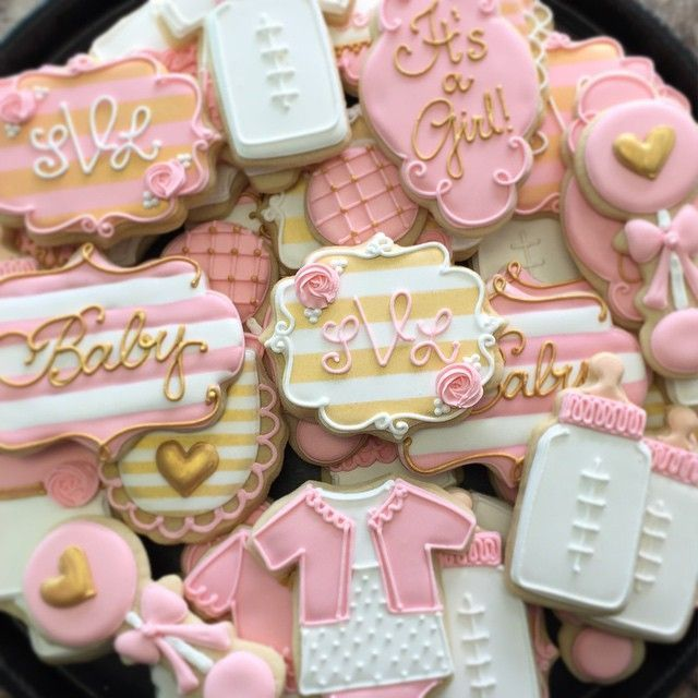 Pink And Gold Princess Baby Shower Treats