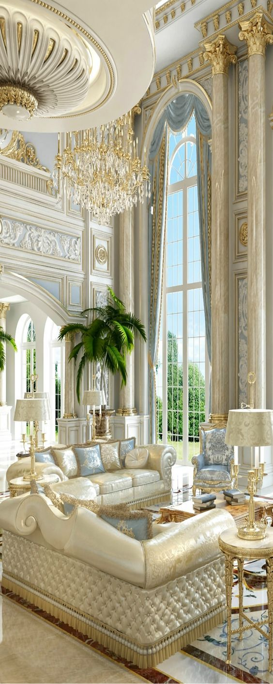 Royal Living Room Design: Luxury Interiors Pictures, Photos, And Images For Facebook