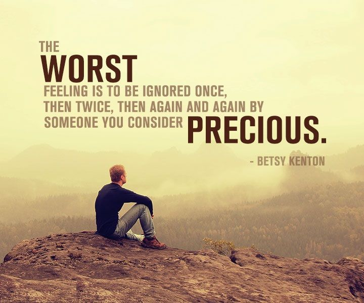 Top 10 Sad Quotes About Love : The Worst Feeling Is To Be Ignored Pictures, Photos, and Images for ...
