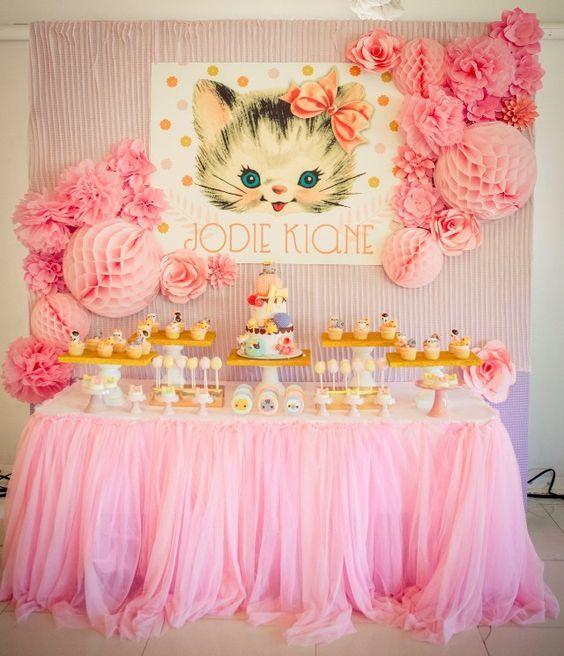Kitty Cat Birthday Party Decorations