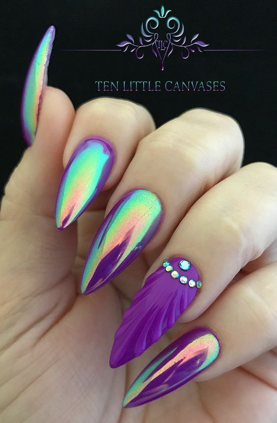 Holographic Mermaid Nails Pictures Photos And Images For Facebook Tumblr Pinterest And Twitter