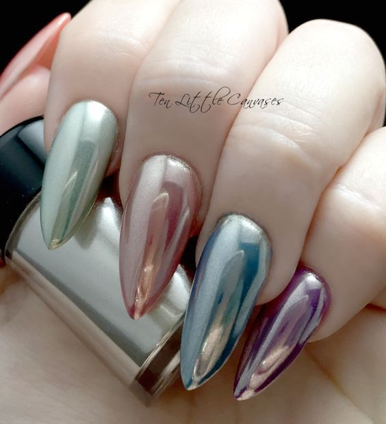 Holographic Stiletto Nails Pictures Photos And Images