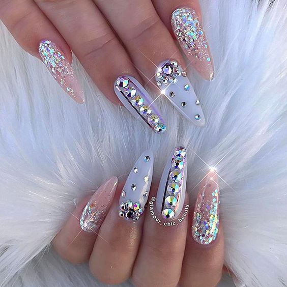 Bedazzled Glitter Nails