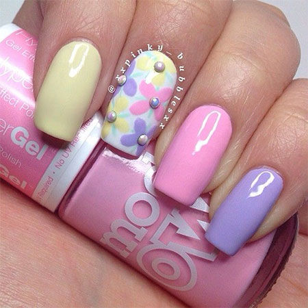 Pastel Summer Nail Art Design Pictures Photos And Images For