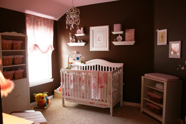Pink and brown baby room for girls pictures photos and for Brown pink bedroom ideas