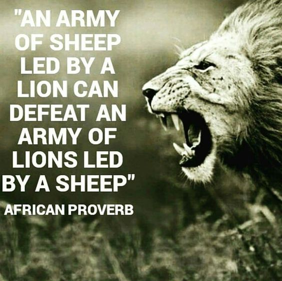Lion Sheep Quote: An Army Of Sheep Led By A Lion Can Defeat An Army Of Lions