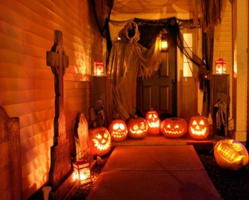 Crazy Halloween Front Door Decor Pictures Photos And