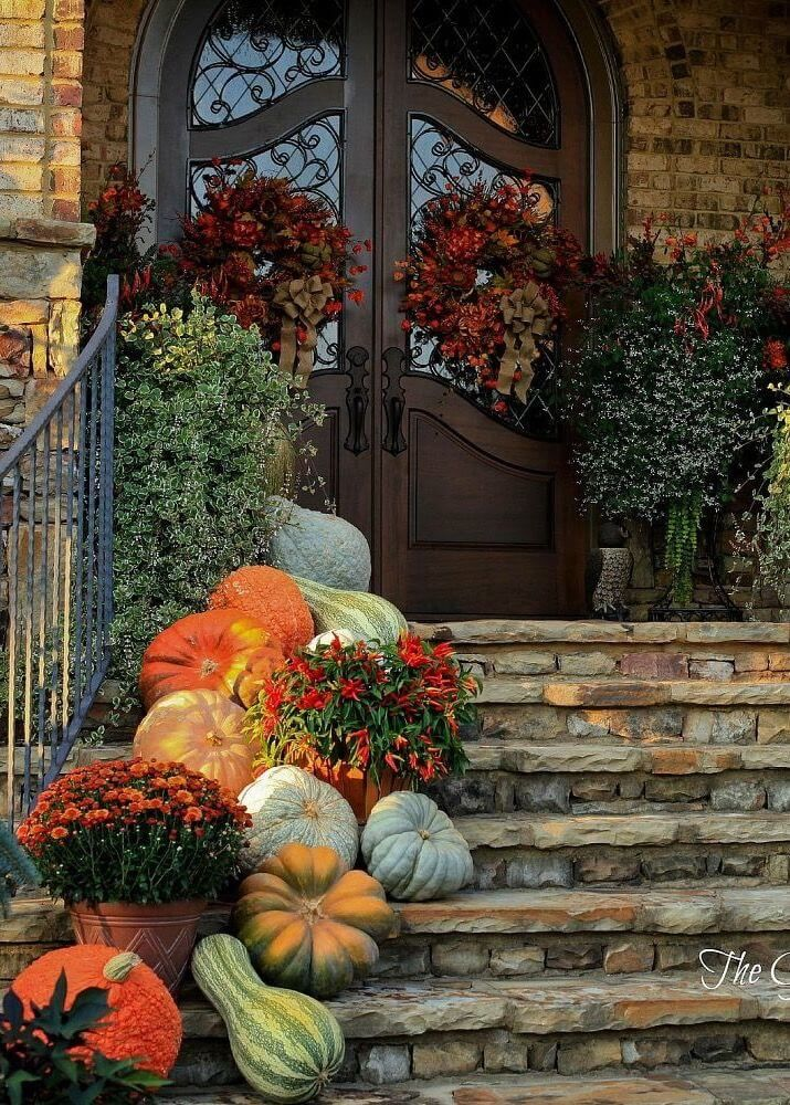Fall Decorated Front Porch Pictures Photos And Images