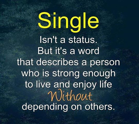 Single Isnt A Status But Its A Word