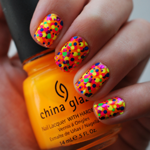 China Glaze Rainbow Dotted Nails Pictures, Photos, And