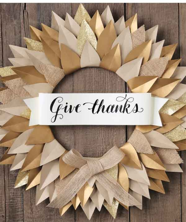 Give Thanks Paper Thanksgiving Banner Pictures, Photos