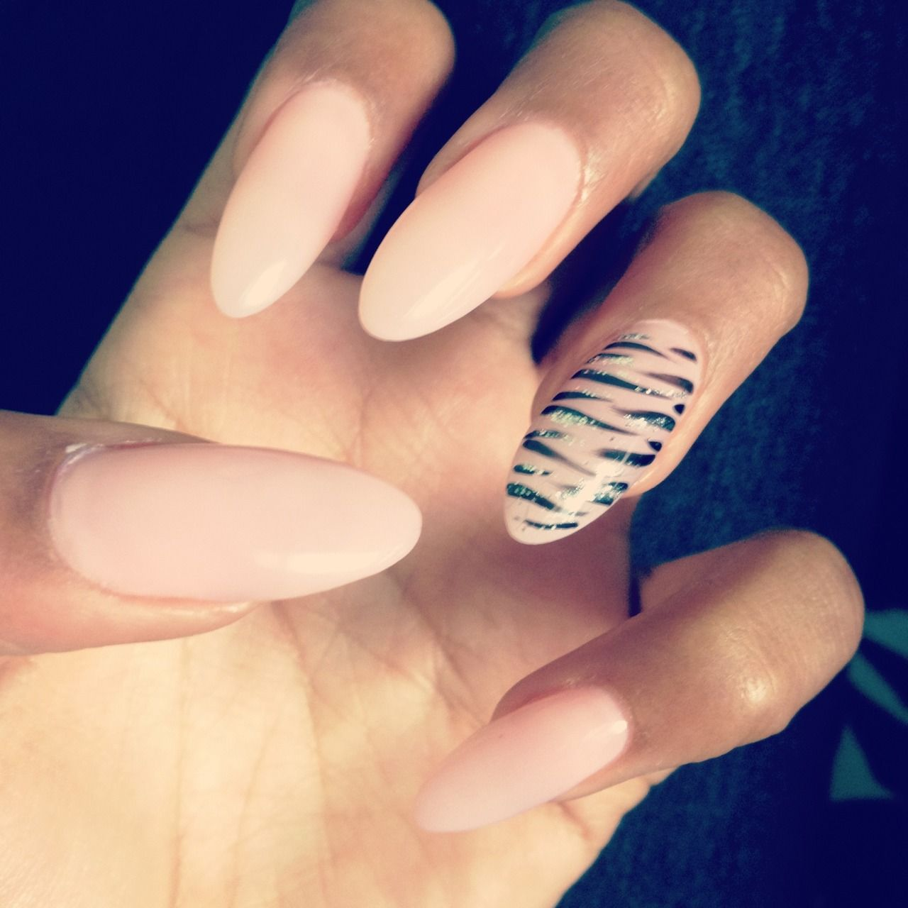 Nude nails with tiger stripe nail pictures photos and images for nude nails with tiger stripe nail prinsesfo Choice Image