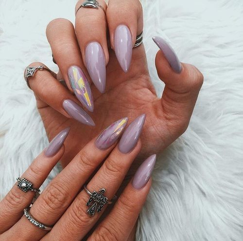 Glossy lavender stiletto nails pictures photos and images for glossy lavender stiletto nails solutioingenieria Image collections