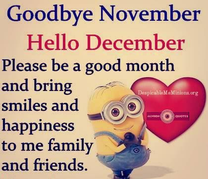 Goodbye November, Hello December, Please Be A Good Month ...