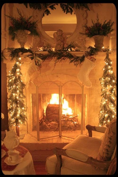 Beautiful Christmas Fireplace Pictures Photos And Images