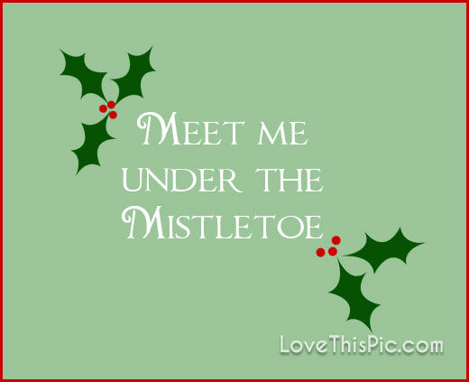 meet me under the mistletoe funny posters