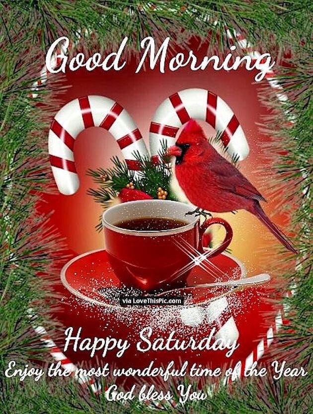 Good Morning Happy Saturday Christmas