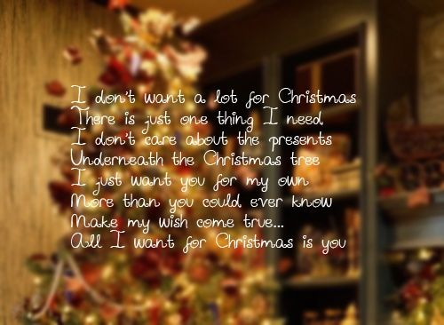 I Dont Want A Lot For Christmas.I Don T Want A Lot For Christmas Pictures Photos And
