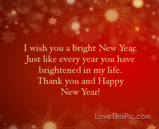 i wish you a bright new year