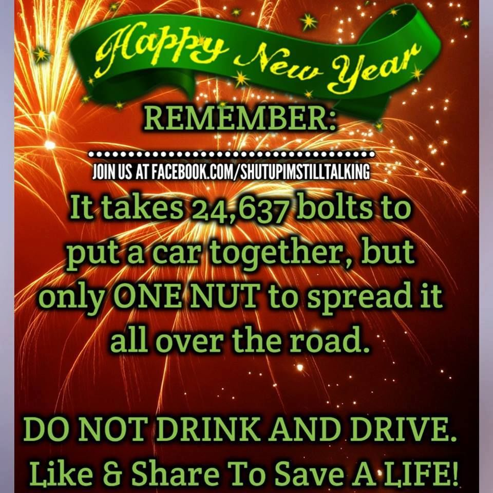 happy new year remember dont drink and drive pictures