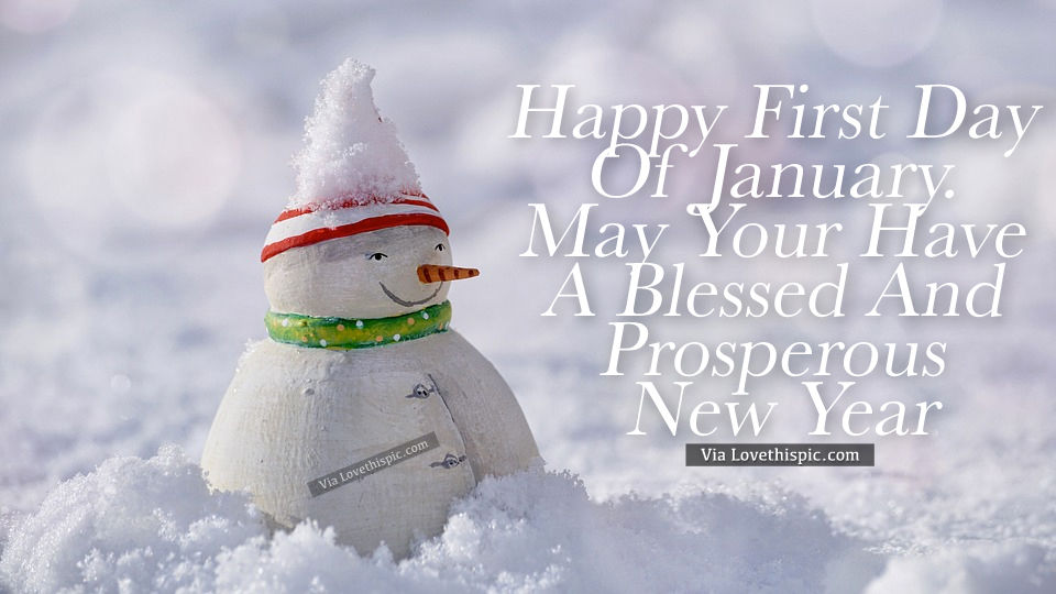 Good Morning Jan : Happy first day of january pictures photos and images