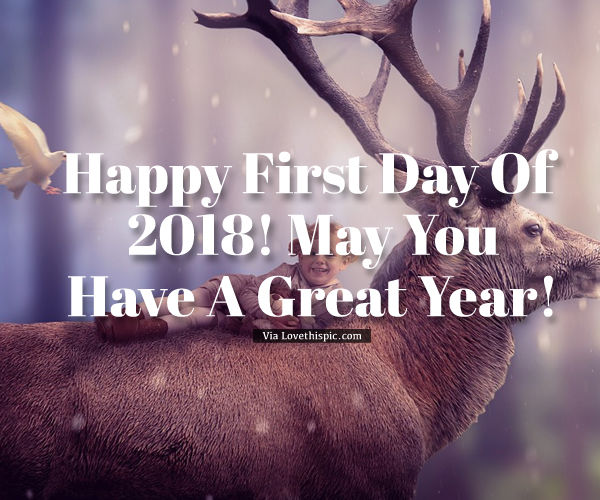 Happy First Day Of 2018, May You Have A Great Year