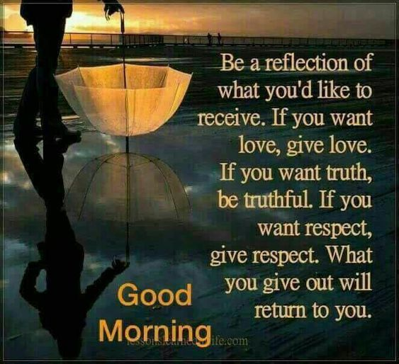 Ood Morning Cute Motivational Quotes: Good Morning Be A Reflection Of What You Would Like To See