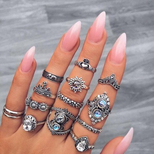 Light Pink Ombre Stiletto Nails Pictures Photos And Images For