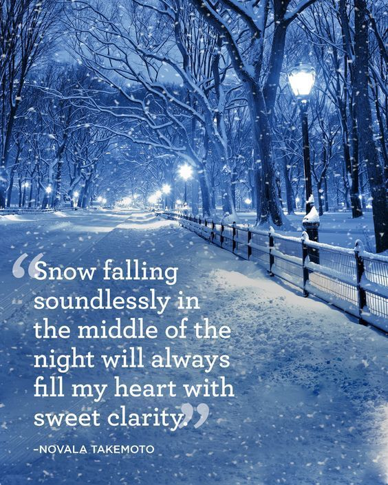 Snow Falling Soundlessly In The Middle Of The Night Will