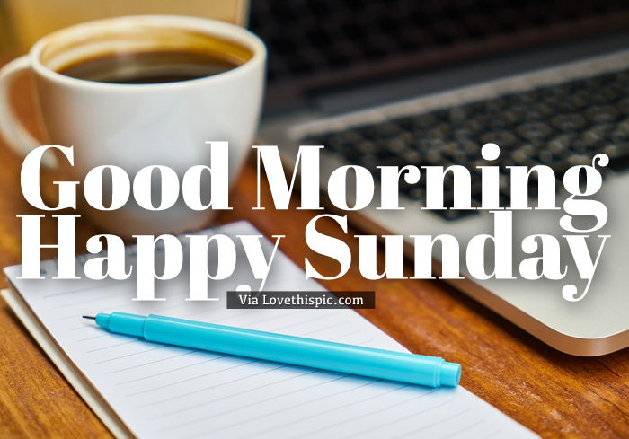 Good Morning Sunday Coffee And Computer Pictures, Photos, and ... #sundayCoffee