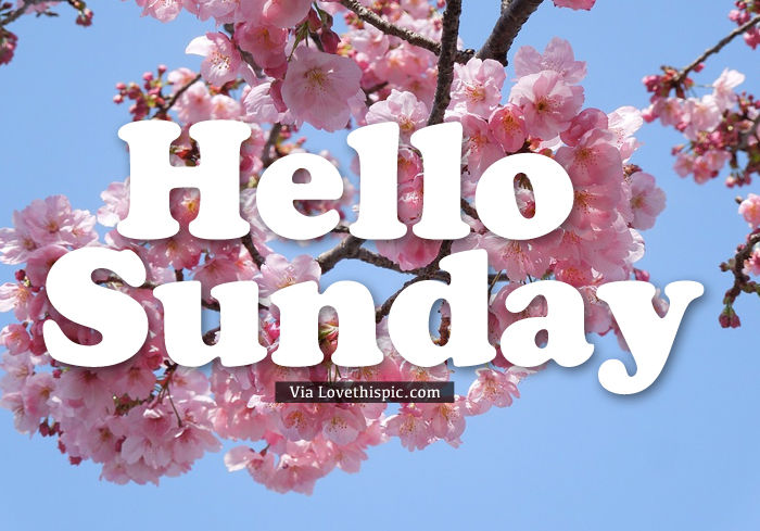 Hello Sunday Pictures, Photos, and Images for Facebook