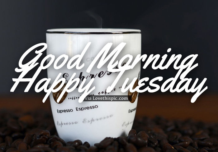 Happy Tuesday Coffee Image Quote Pictures, Photos, And