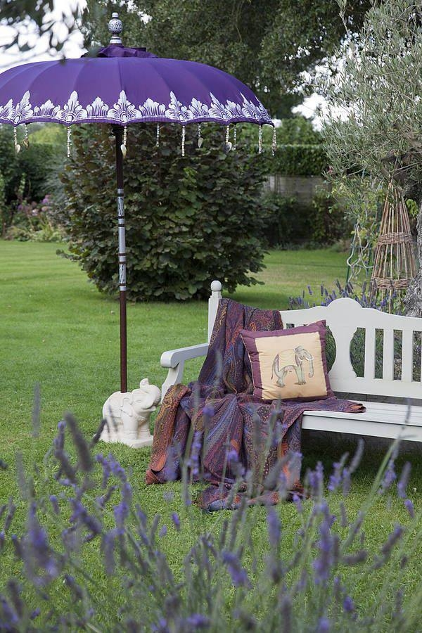 Purple Garden Umbrella