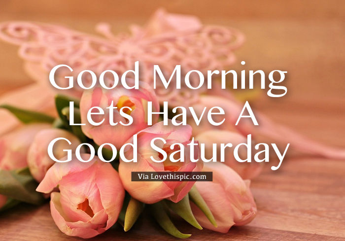 Lets Have A Good Saturday Pictures, Photos, and Images for