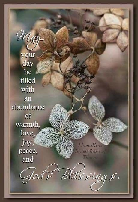 may your day be filled with an abundance of warmth love