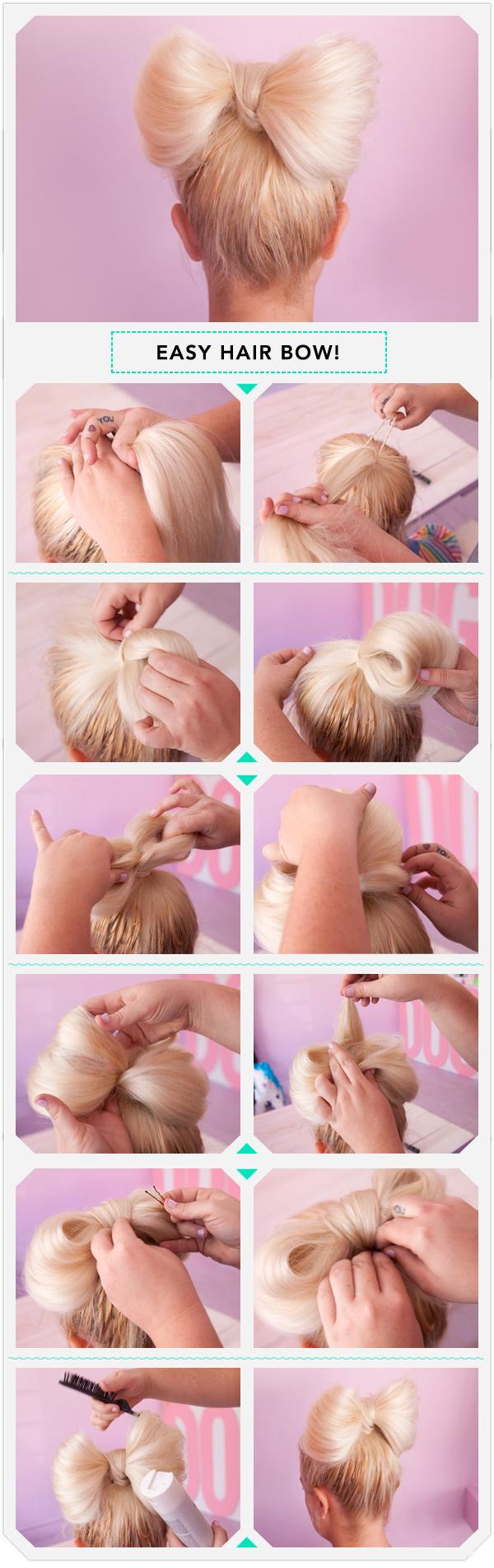 Причёски своими руками бантик из волос