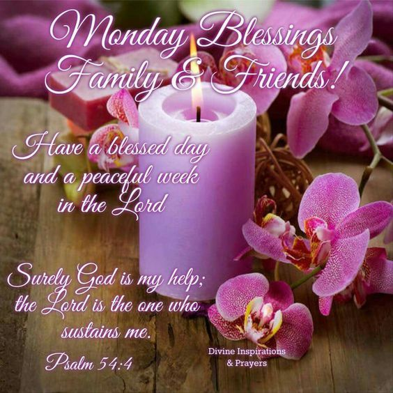 Lavender candle monday family blessing quote pictures - Monday blessings quotes and images ...