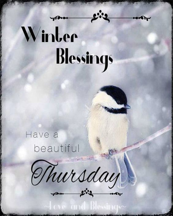 Beautiful Winter Blessing For Thursday Pictures, Photos