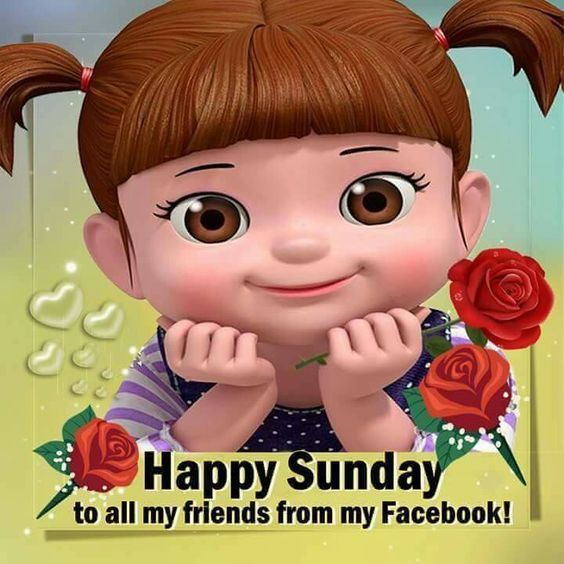 Cute Smiling Girl Happy Sunday Friends Quote Pictures