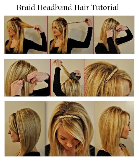 DIY Braid Headband Hair Tutorial Pictures Photos And Images For - Braid diy pinterest
