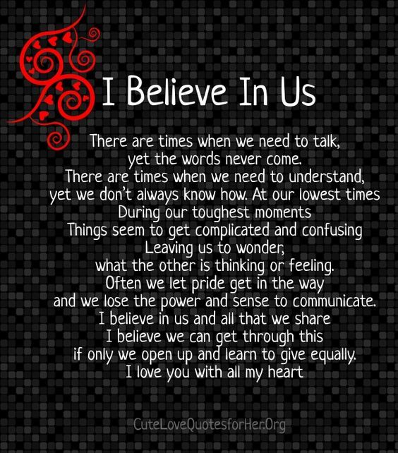 I Believe In Us Pictures, Photos, And Images For Facebook