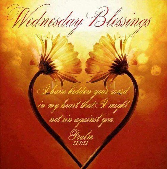 Sunflower Heart Wednesday Blessings