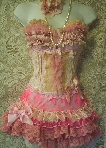 Vintage Pink Corset Pictures, Photos, and Images for