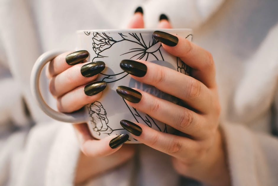 Woman Wearing Black Nail Polish Pictures Photos And Images For Facebook Tumblr Pinterest