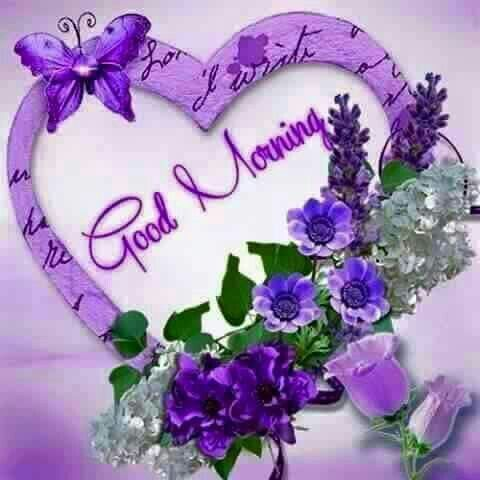 Purple Good Morning Heart Image Pictures, Photos, and ...