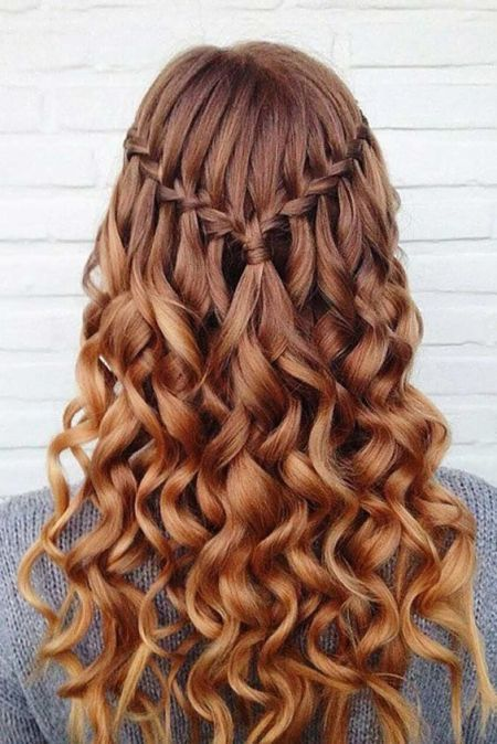 Half Up Half Down Waterfall Braid Pictures Photos And